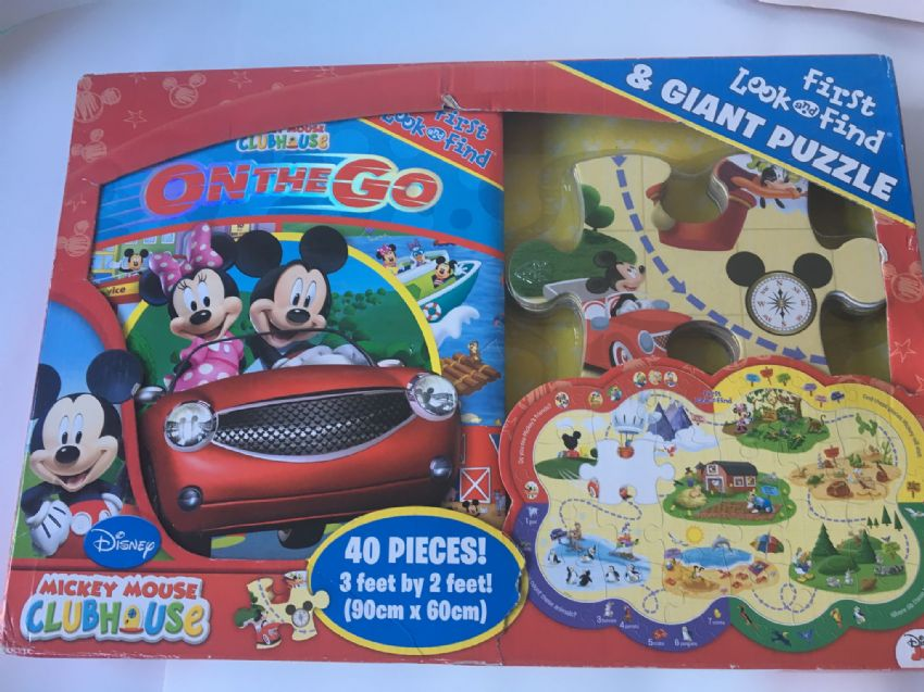 Mickey Mouse Club House On the Go  and First Look and Find Jigsaw